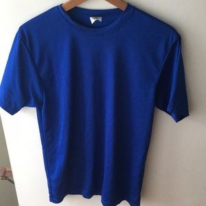 Unisex blue athletic shirt